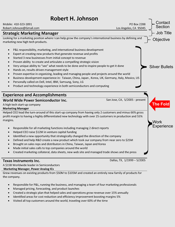 The Hybrid Resume Format - sample combination resume template