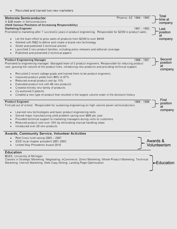 The Hybrid Resume Format - resume templates examples