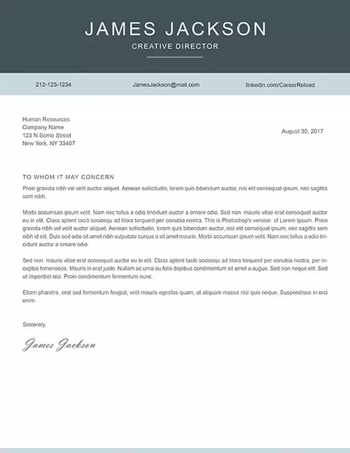Free Photoshop Cover Letter Templates - Free Download - cover letter template free download