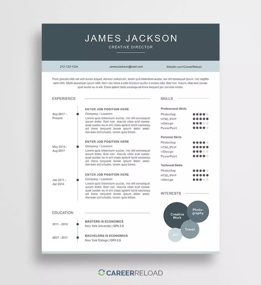 resume letter templates free