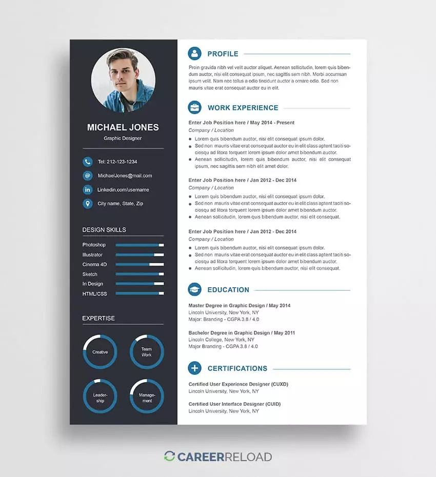 resume template with cover letter word