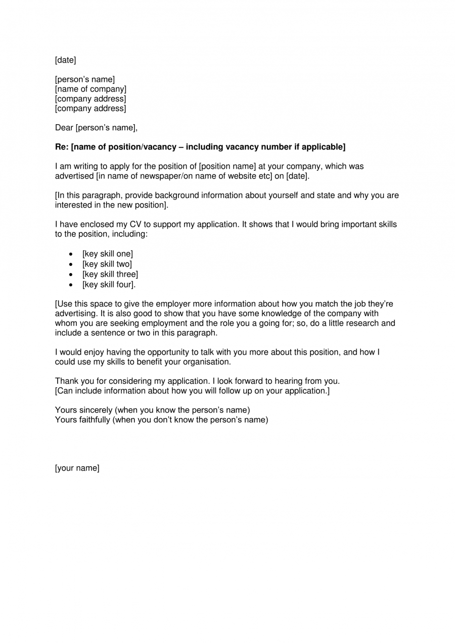 format cover letter sample free - How Do You Format A Cover Letter