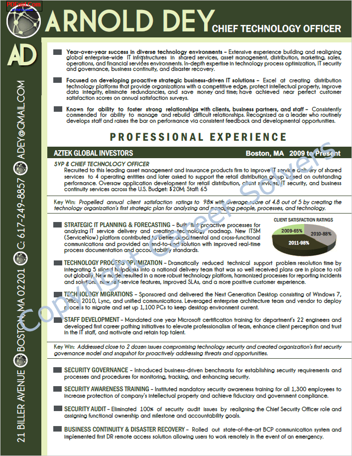 resume examples with pictures