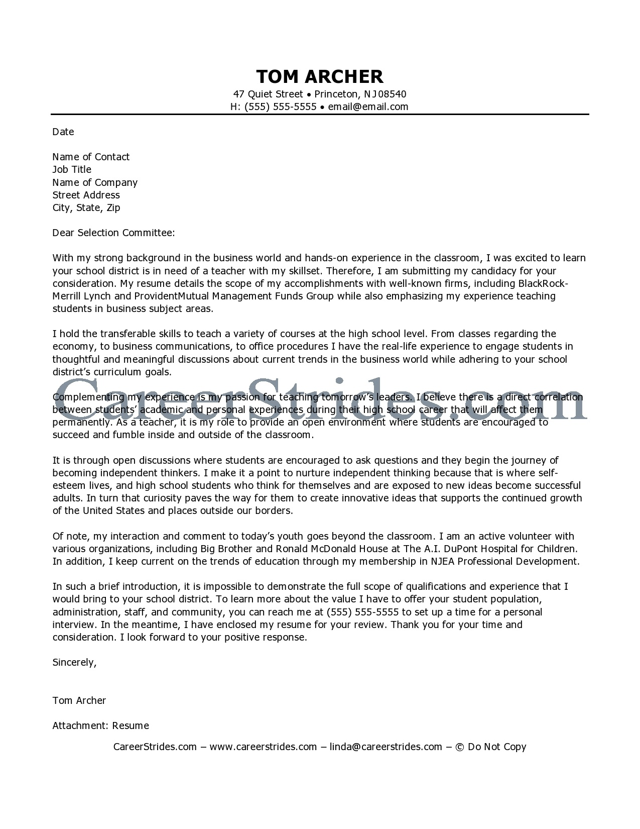 cover letter english teacher 05052017