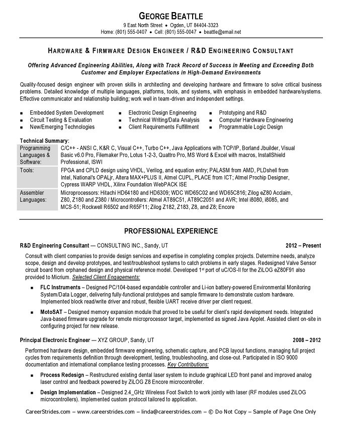 engineering manager resume click here to download this quality assurance manager resume template httpwww resume examples - Electronic Design Engineer Sample Resume