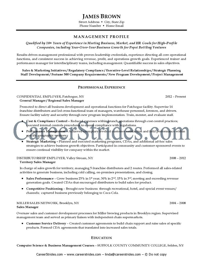 Sample Resume Professional Affiliations | Project Manager Resume ...