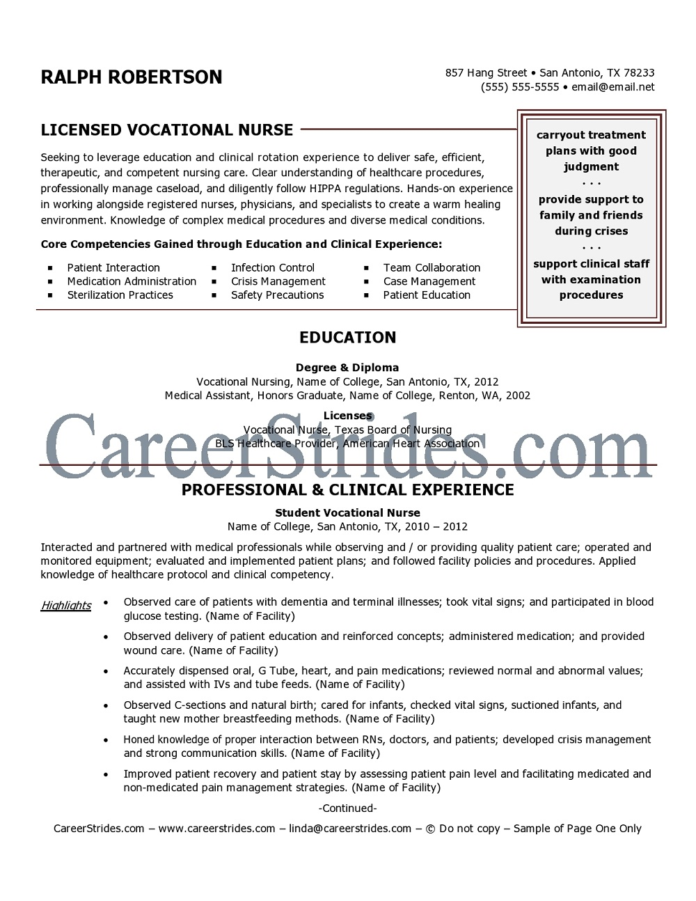 sample licensed vocational nurse resume resume builder sample licensed vocational nurse resume lpn licensed practical nurse resume samples vocational nurse flight nurse objective
