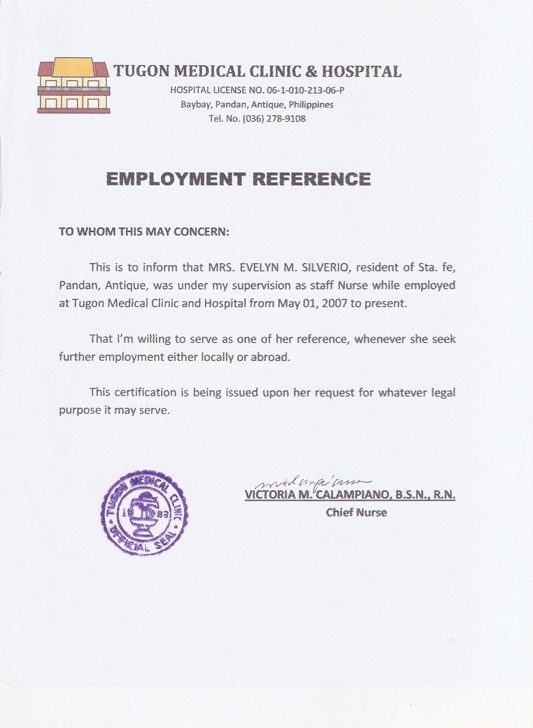 Letter certification employment for caregiver business letter 6 certificate of employment sample download resumes in word format 5420 48088349412 tugonmed 6 certificate of yadclub Images