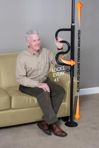 Standers Security Pole and Grab Bar transfer standing aid ...