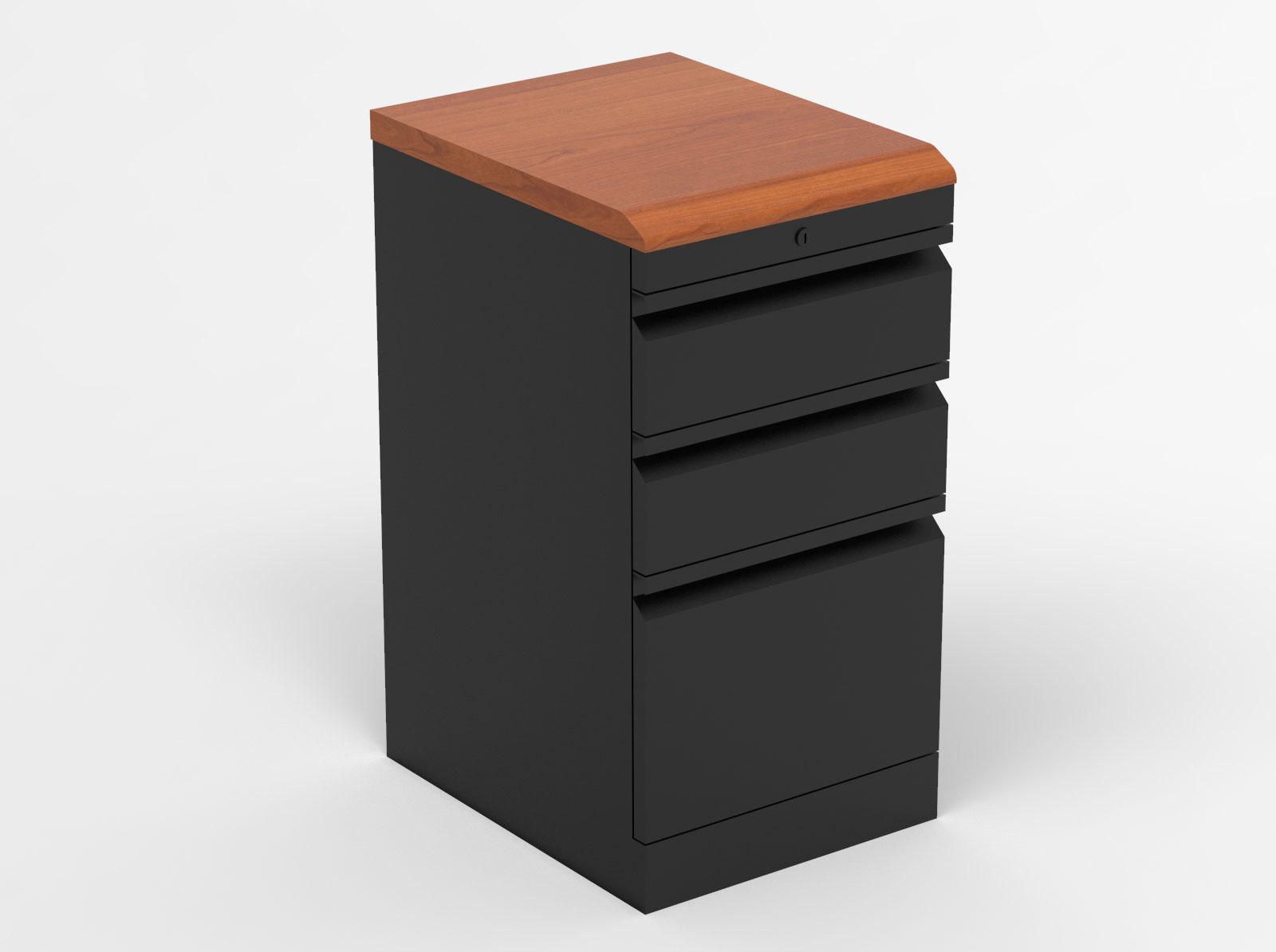 Box Box File With Premium Wood Top Caretta Workspace