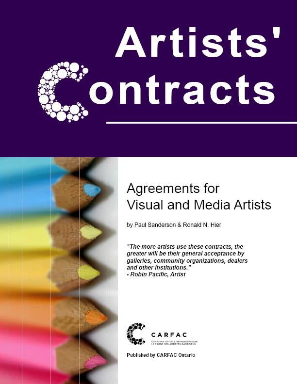 CARFAC Ontario - Artists\u0027 Contracts Agreements for Visual and Media - artist agreement contract