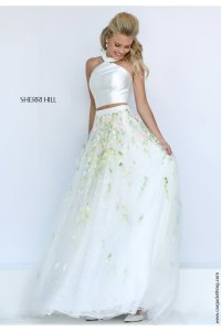 Sherri Hill 50196 2 peice ball prom gown in ivory best ...