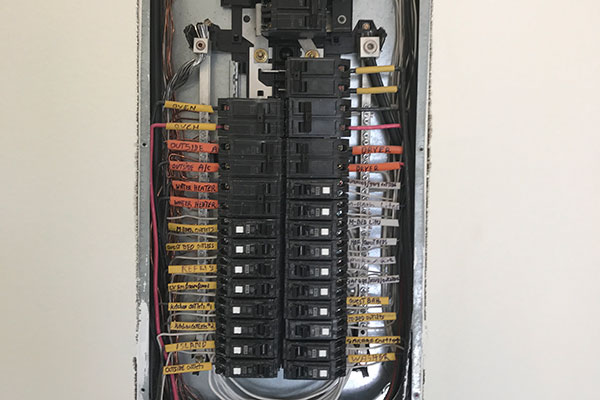 electrical panel replacement or upgrade by licensed contractor