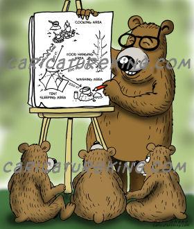 three bears cartoon
