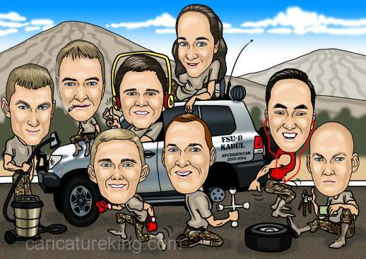 army group caricature