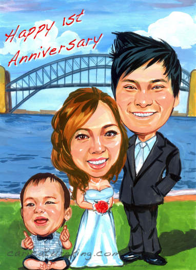 First wedding anniversary gift idea - art