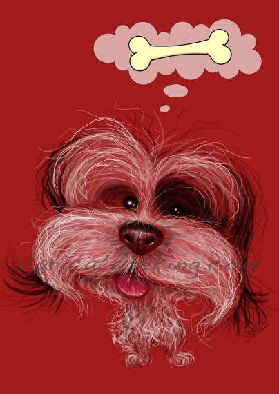 pet dog caricature