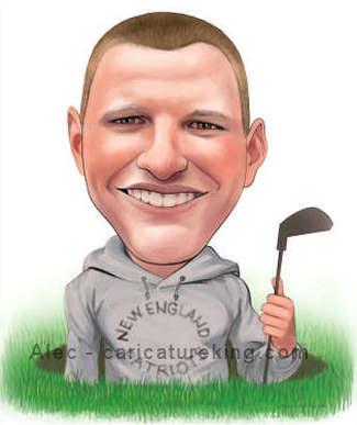 custom art golfer gift idea