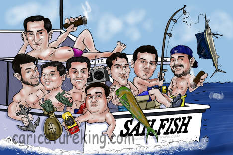 dishing-group-caricature
