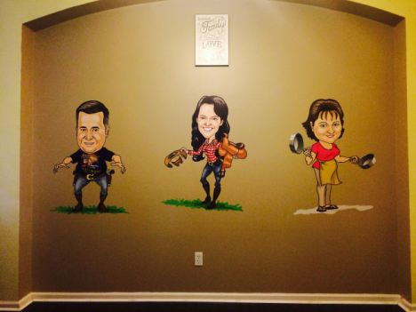 wall sized caricature