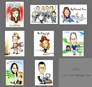 Zalo recent caricature art works