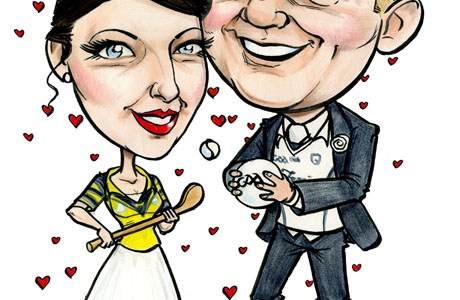Wedding Caricature Signing Board by Allan Cavanagh