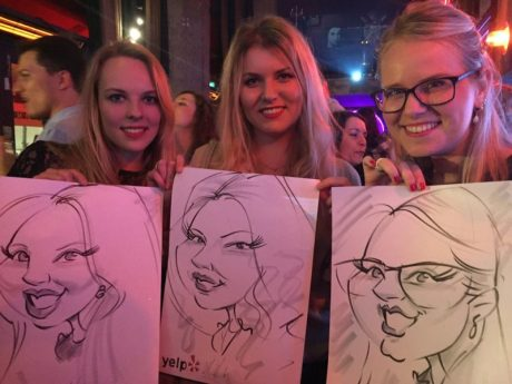 Live caricatures for corporate events all over Ireland