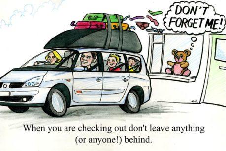 cartoon of family on holiday