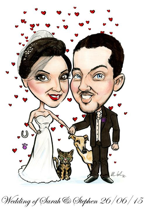 WEDDING-CARICATURE-SIGNING-BOARD-IRELAND-ALLAN-CAVANAGH