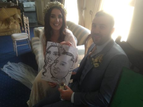 Wedding caricatures by Allan Cavanagh all over Ireland