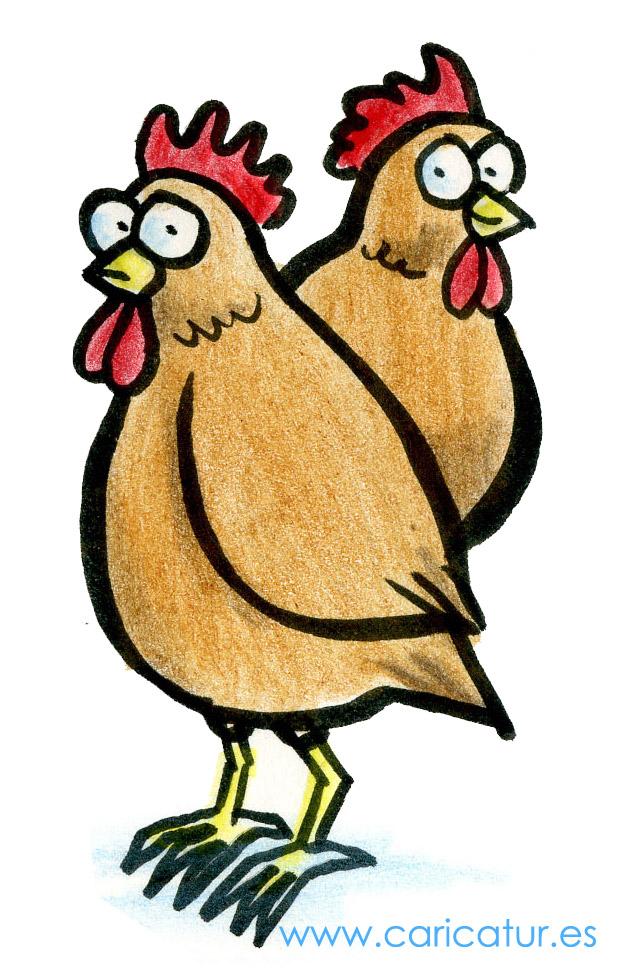 Free cartoon of chickens