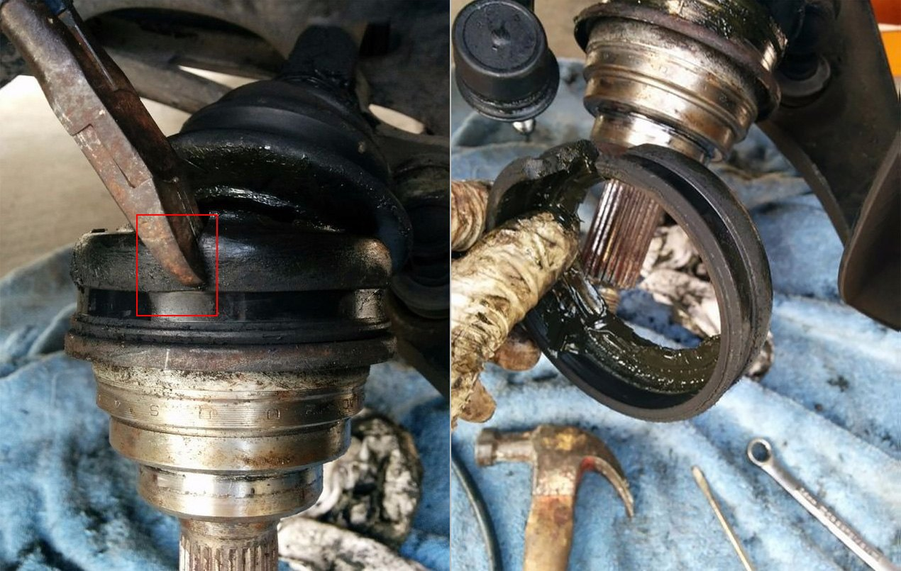cv boot replacement without removing axle