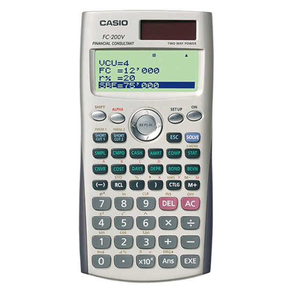 Casio® FC-200V-S-IH - FC-200 Financial Calculator
