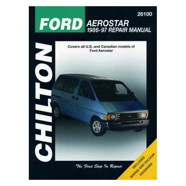 Chilton® 26100 - Ford Aerostar Repair Manual