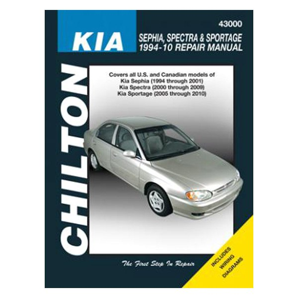 Chilton® 43000 - Kia Sephia/Spectra/Sportage Repair Manual