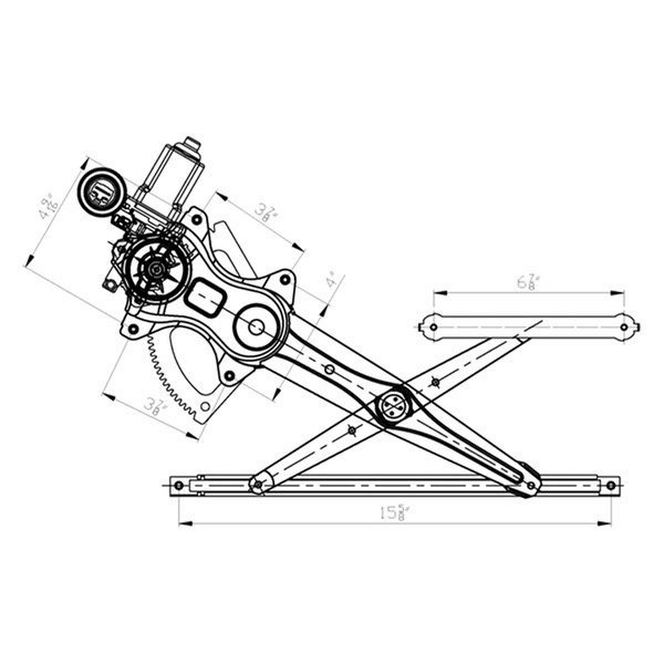 tycr front passenger side power window motor and regulator assembly