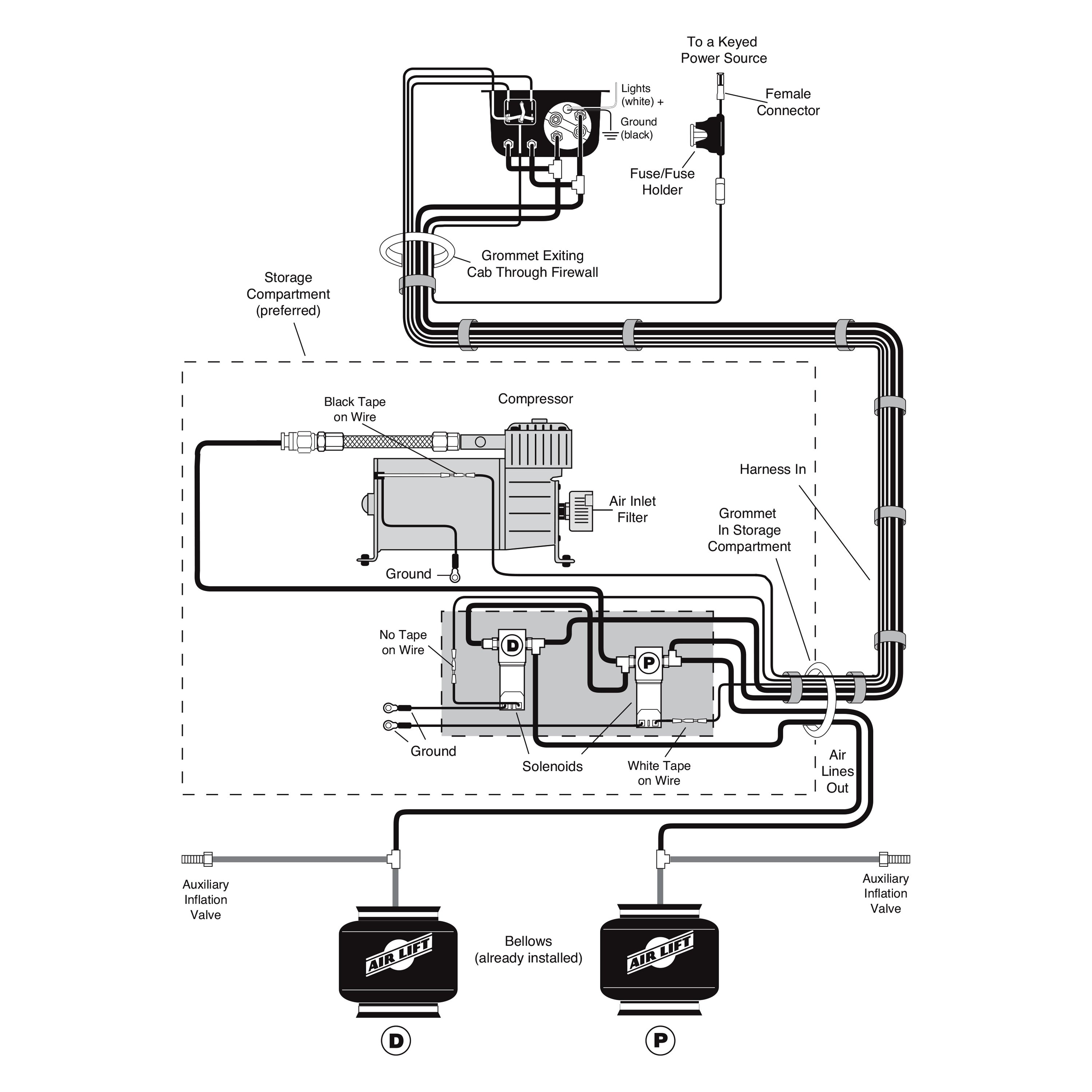 air ride dual compressor wiring diagram