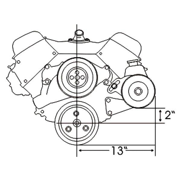 1972 chevelle engine bracket diagram