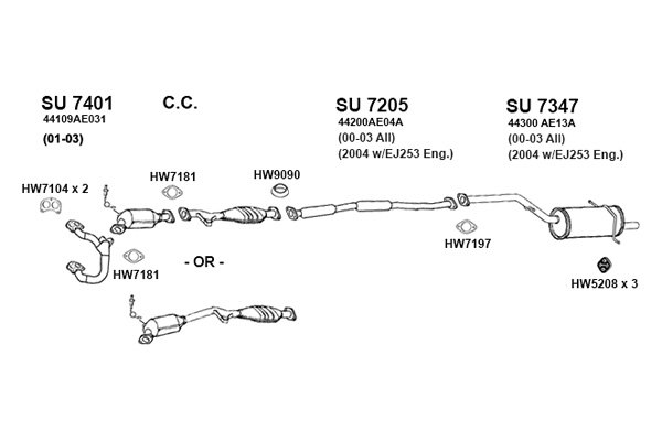 Subaru Forester Exhaust Diagram Wiring Schematic Diagram