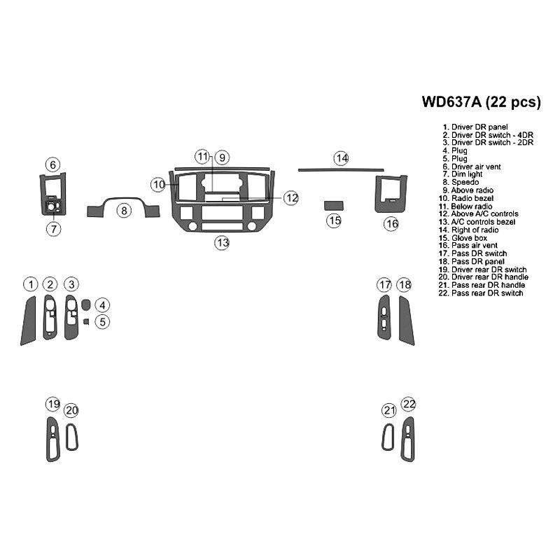 2006 dodge ram stereo install kit