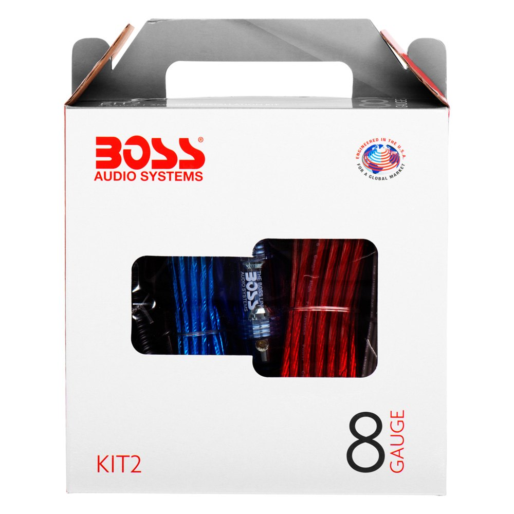 Boss B8gk 8 Gauge Amplifier Amp Complete Kit Wiring Auto Audio Epak8bl Installation Cable U00ae Kit2