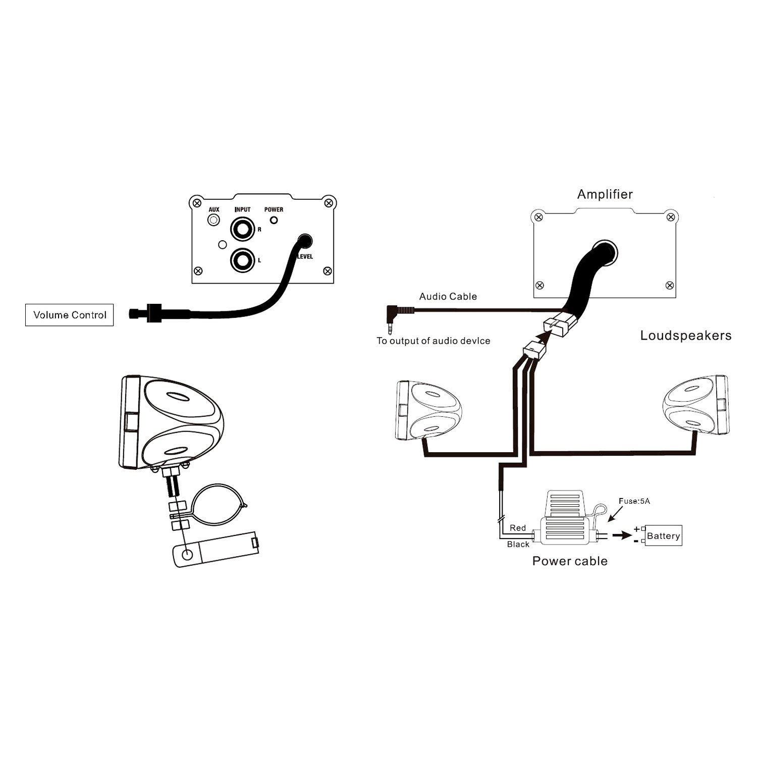 memphis car audio amplifier wiring diagrams