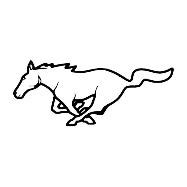 mustang logo drawing easy