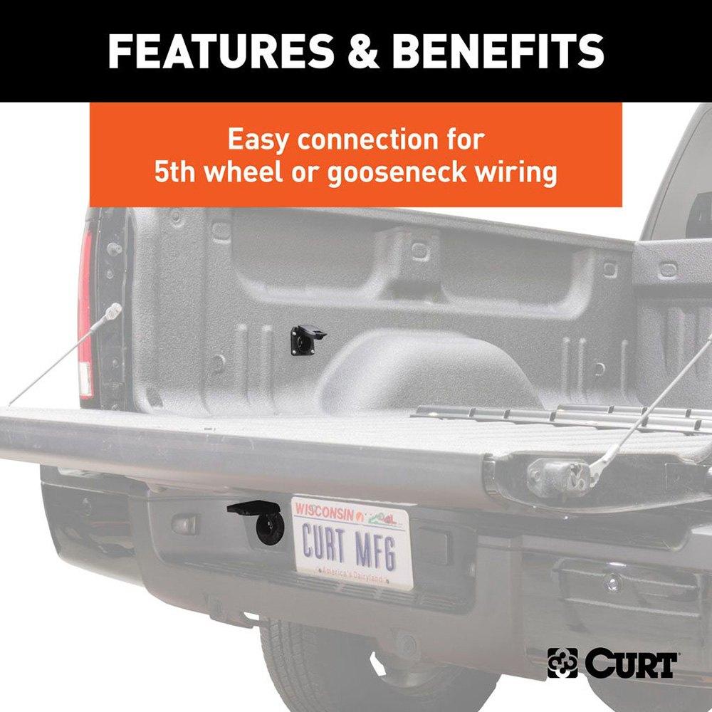 CURT® 56070010 - 7\u0027 5th Wheel and Gooseneck Wiring Harness
