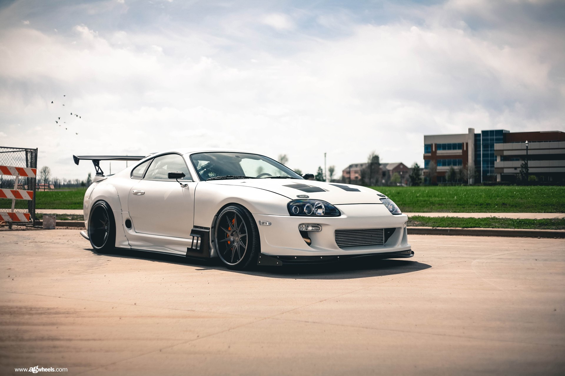 Import Car Wallpapers Ultra Modern Tuning For White Toyota Supra With Custom