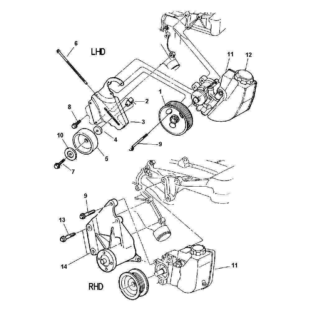 power steering pump 52088139