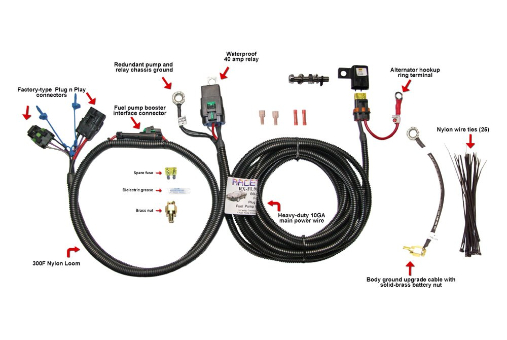 Racetronix® FPWH-005 - Upgrade Fuel Pump Wiring Harness