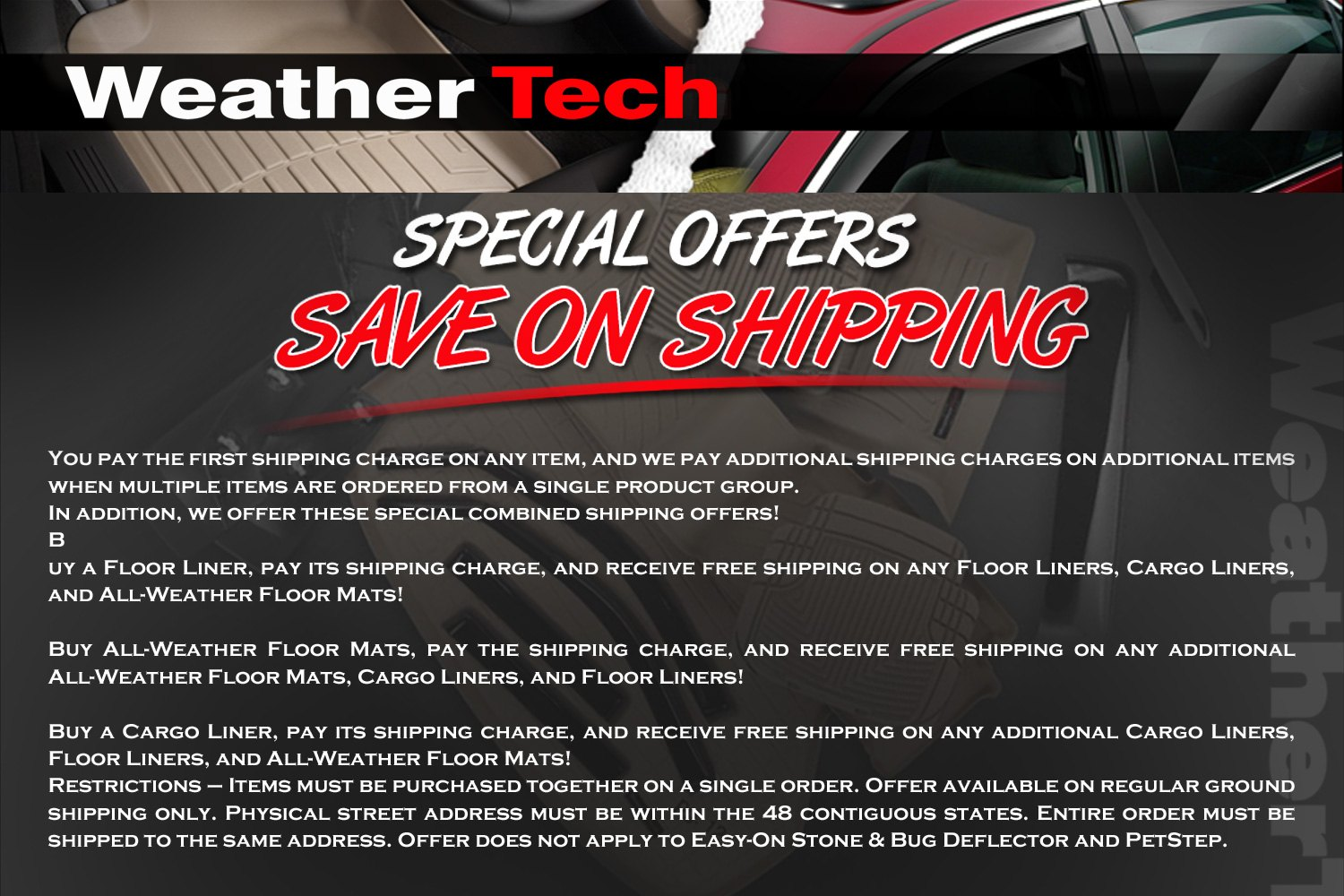 weathertech coupons and codes