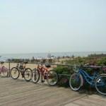 Bikes along the boardwalk