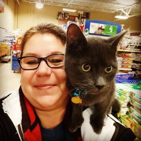 Slate and me at Petsmart
